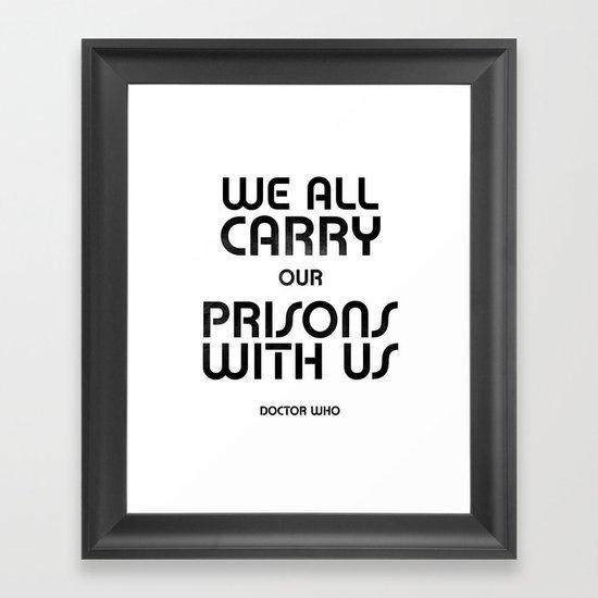 We All Framed Art Print