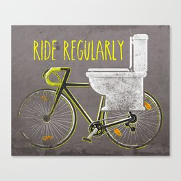 Ride Regularly Canvas Print