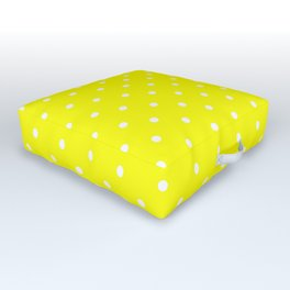 Dotted (White & Classic Yellow Pattern) Outdoor Floor Cushion
