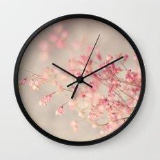 Coral Bells Wall Clock