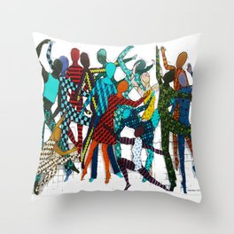 Dancing your own step Throw Pillow