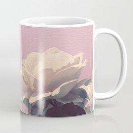 Vintage Spring Pearl White Roses Lavender Sky Coffee Mug