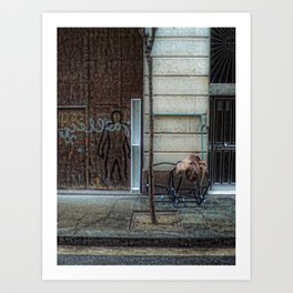 reserved human parking zone Art Print