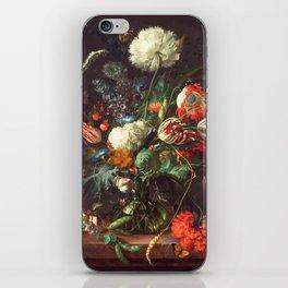Vase of Flowers II - de Heem iPhone Skin
