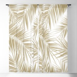 Palm Leaves - Gold Cali Vibes #6 #tropical #decor #art #society6 Blackout Curtain