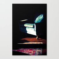 sofa Canvas Prints featuring sofa by Shannon Sadler