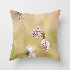 little bee Throw Pillow