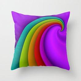 fluid -48- Throw Pillow