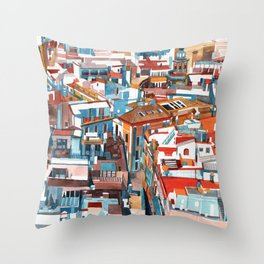 Sevilla buildings Throw Pillow