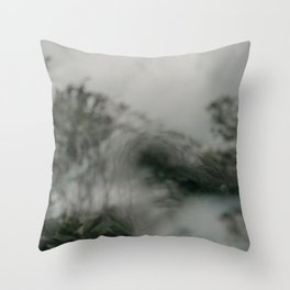 Stormy Sea Abstract Film Throw Pillow