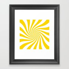 Swirl (Gold/White) Framed Art Print