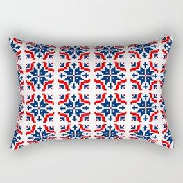 Red & Navy Snowflake no.dd1709210 Rectangular Pillow