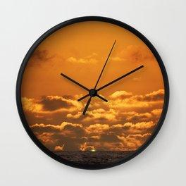 Green Flash. Wall Clock