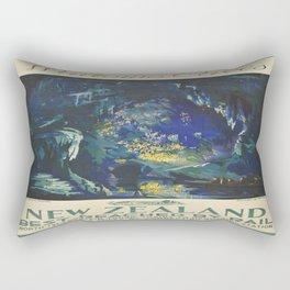 Vintage poster - Waitomo Caves Rectangular Pillow