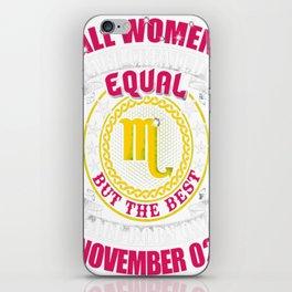 Best-Women-Born-On-November-02-Scorpio---Sao-chép iPhone Skin