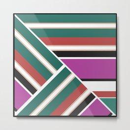 Geometric pattern, Striped triangles 2 Metal Print