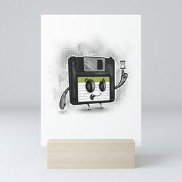 Floppy Disc Dave Mini Art Print