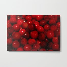 Cranberries Photography Print Metal Print