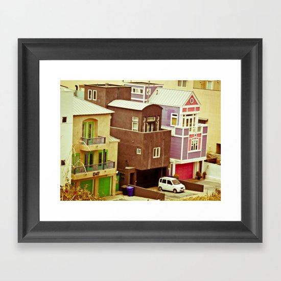Colorful Condos Framed Art Print