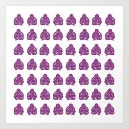 Plum Asian Moods Buddha Boys Art Print