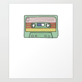 Retro Cassette Tape Art Print