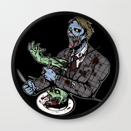 Hannibal, The Cannibal Zombie Wall Clock