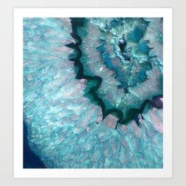 Teal Crystal Art Print