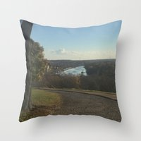 virginia Throw Pillows featuring virginia by Luzvanni