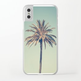 Retro palm tree Clear iPhone Case