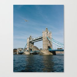 Flying over Tower Bridge Canvas Print