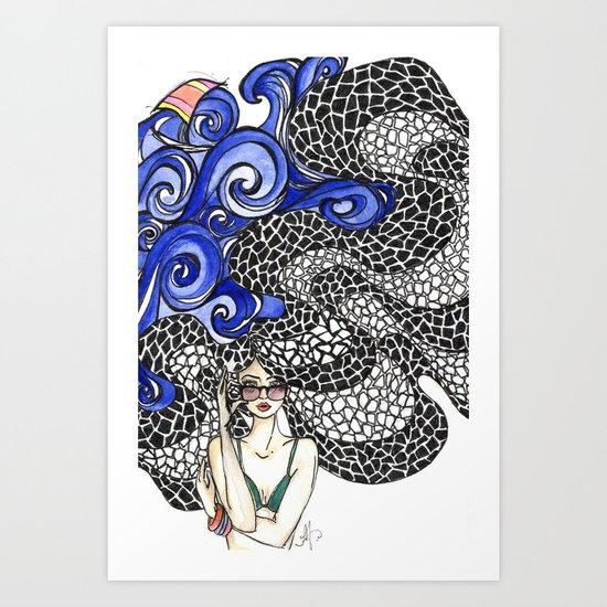 Copacabana Girl Art Print
