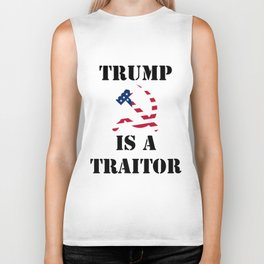 trump is a traitor trump Biker Tank