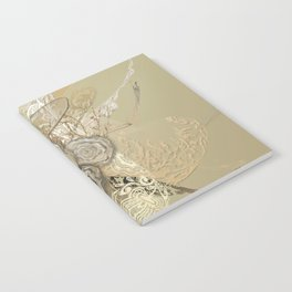 50 Shades of lace Gold Gold Notebook