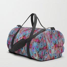 Pop Up Peacock Duffle Bag