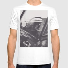 Super car details, british triumph spitfire, black & white, high quality fine art print, classic car White Mens Fitted Tee MEDIUM