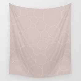 Circular Collage - Neutral Blush Wall Tapestry