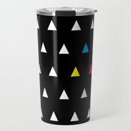 CMYK Triangles Travel Mug