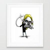 kurt rahn Framed Art Prints featuring Kurt by Hanif