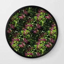 Flowing lilacs... Wall Clock