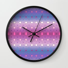 PINK GEOMETRY  Wall Clock