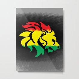 Rastafari Lion Metal Print