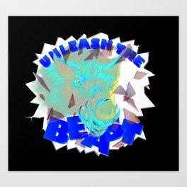 Unleash the Beast wild bore Art Print
