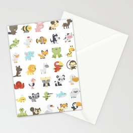 CUTE BABY ANIMAL PATTERN Stationery Cards