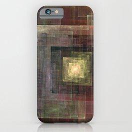 Earth Tones Squared iPhone Case