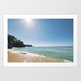 Beautiful Paradise at Pedn Vounder Beach, Cornwall Art Print