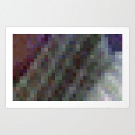ABSTRACT PIXELS #0001 Art Print