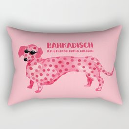 Pink hot dog Rectangular Pillow