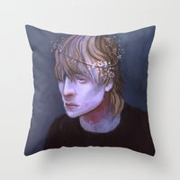 dragon age Throw Pillows featuring cole dragon age flowers by Professional Elf