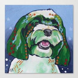Havanese Pop Art Dog Portrait Canvas Print