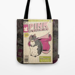 Little Thumbelina Girl: Pink Lightning Tote Bag